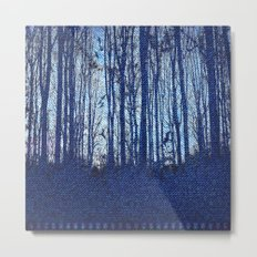 Denim Designs Winter Woods Metal Print