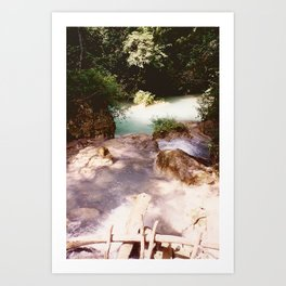 Kanchanburi TH - Erawon Waterfalls  Art Print