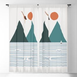 Cat Landscape 83 Blackout Curtain