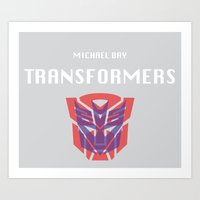 transformers Art Prints featuring Transformers by KevinACArter