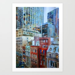 The view from the windows of the MoMA Art Print