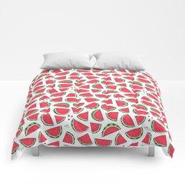 Watermelon World! Kawaii Watermelon Doodle Comforters