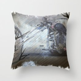 Ghostly Chopper Throw Pillow