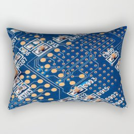 Blue Panel Rectangular Pillow