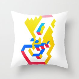 Rocket blanche Throw Pillow
