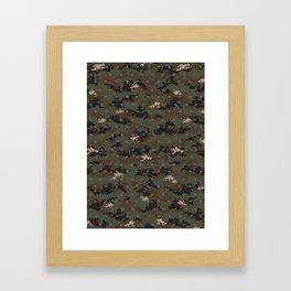Invader Camo Framed Art Print