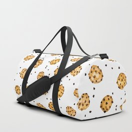 Modern chocolate chips cookies watercolor pattern Duffle Bag