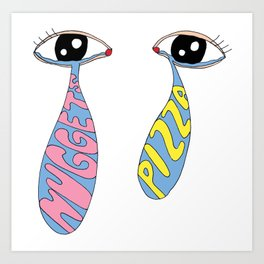 crying over lost carbs/good luck on your diet Art Print