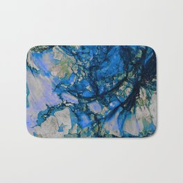 Blue Cracks Bath Mat