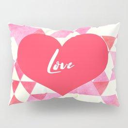Valentine's Diamond Pattern with Love Heart Pillow Sham