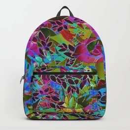 Floral Abstract Artwork G544 Backpack