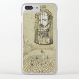 Michel Du Montaigne (1533 - 1592) An Inspirational Philosopher; Prison in the Sky Clear iPhone Case