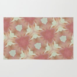 Geometric Floral Design - Pink Rug