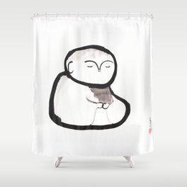Buddha Meditating Shower Curtain