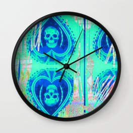 Tracy Porter / Roxy Attic: Blue Spades Wall Clock