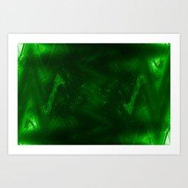 Dark green grunge Art Print