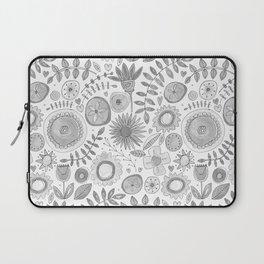 heart fleur mono Laptop Sleeve