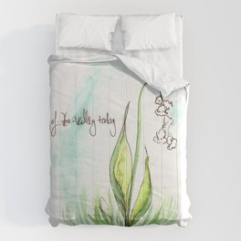 Journal Entry: Lily of the Valley Comforters