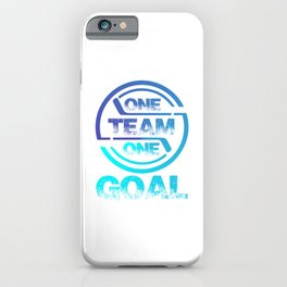 One Team One Goal bt iPhone Case