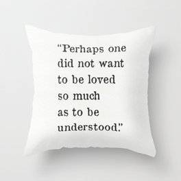 George Orwell quote Throw Pillow