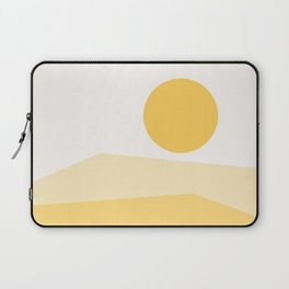 Abstract Landscape 09 Yellow Laptop Sleeve