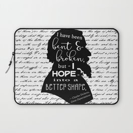 Into a Better Shape - Dickens (B&W Large) Laptop Sleeve