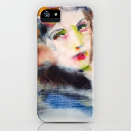 GRETA GARBO watercolor portrait.2 iPhone Case