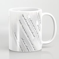 murakami Mugs featuring Fate is like a sandstorm by Janet Carpenter