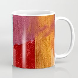 Desert Daydreams [2]: a vibrant, colorful abstract acrylic piece in pink, red, orange, and blue Coffee Mug