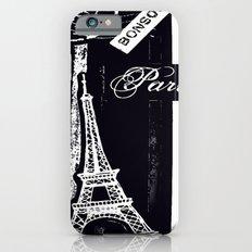 bonsoir -black and white iPhone 6s Slim Case