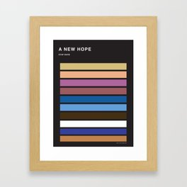 The colors of StarWars - A New Hope episode 4 Framed Art Print