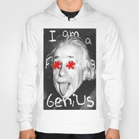 einstein Hoodies featuring Einstein  by Hijack:D