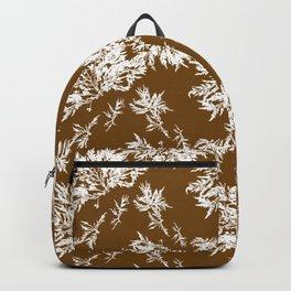 Brown Seaweed Pattern Backpack