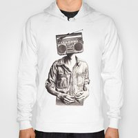 radio Hoodies featuring Radio-Head by KatePowellArt