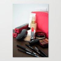 make up Canvas Prints featuring Make-Up by Tanya Thomas