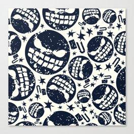Happy halloween  bomb pattern Canvas Print