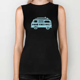 Good Vibes Only retro surfing Camper Van Biker Tank