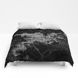 Reykjavik Black Map Comforters