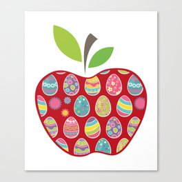 Easter Egg Hunt In Apple Funny Teacher Canvas Print