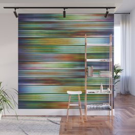 Colorful Metal Ribbons Pattern Wall Mural