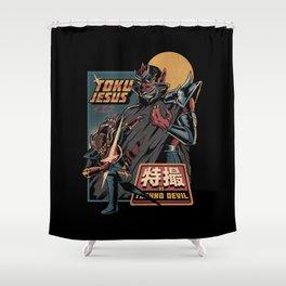 TokuJesus Shower Curtain