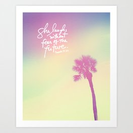 The Laughs without Fear of the Future Art Print