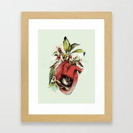 Heart Of Birds Framed Art Print