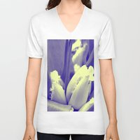 tulips V-neck T-shirts featuring tulips by habish