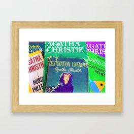 Destination Unknown - Vintage Agatha Christie Framed Art Print