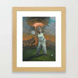 Golfin with Donny Framed Art Print