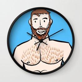 Beard Boy: Ginger Wall Clock