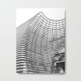 Abstract Architecture BW Metal Print