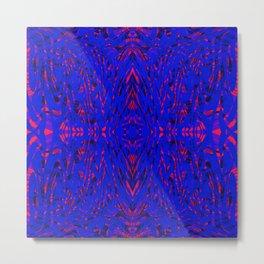 blue on red symmetry Metal Print