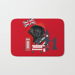 Proud London Pug Bath Mat